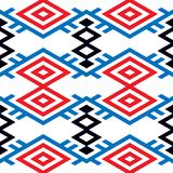 Abstract background in ethnic style. Scandinavian motifs. Seamless pattern of geometric shapes Royalty Free Stock Photos