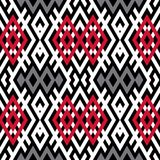 Abstract background in ethnic style. Scandinavian motifs. Seamless pattern of geometric shapes Stock Photo