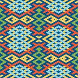 Abstract background in ethnic style. Scandinavian motifs. Seamless pattern of geometric shapes Stock Photography