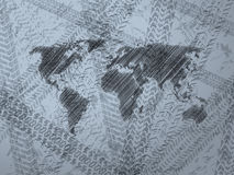 Abstract background with explored world map Royalty Free Stock Photo