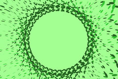 Abstract background - explosion of circles. Abstract green round chaotic background with little green circles. Computed 3D illustration Royalty Free Stock Photos