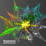 Abstract background of explosion of colored inks.  vector illustration