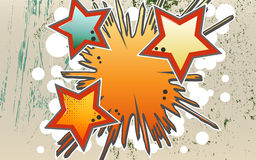 Abstract background of explosion stars  in graffity style. Royalty Free Stock Images