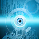 Abstract background with eye and circuit. EPS10 vector Royalty Free Stock Images