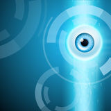 Abstract background with eye. EPS10 vector royalty free illustration