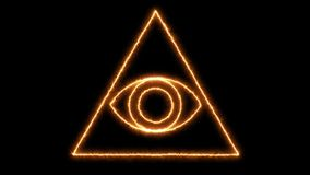 Abstract background with Eye of Providence. 3d rendering Stock Photography