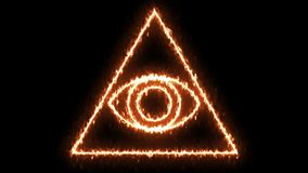 Abstract background with Eye of Providence. 3d rendering Royalty Free Stock Photos