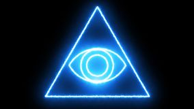 Abstract background with Eye of Providence. 3d rendering Royalty Free Stock Photography