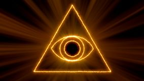 Abstract background with Eye of Providence. 3d rendering royalty free illustration