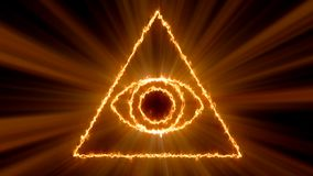 Abstract background with Eye of Providence. 3d rendering vector illustration