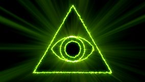 Abstract background with Eye of Providence. 3d rendering Royalty Free Stock Image