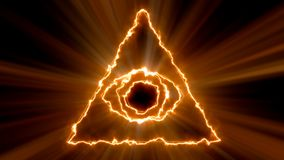 Abstract background with Eye of Providence. 3d rendering stock illustration