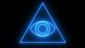 Abstract background with Eye of Providence. 3d rendering Royalty Free Stock Images