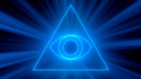 Abstract background with Eye of Providence. 3d rendering Royalty Free Stock Photo
