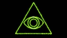 Abstract background with Eye of Providence. 3d rendering Stock Image