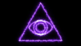 Abstract background with Eye of Providence. 3d rendering Stock Photos