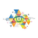 Abstract background and eye. Vector abstract background and eye stock illustration