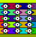 Abstract background eyes. Abstract colored background image consisting of lines and eyes Stock Photo