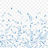 Abstract background with falling blue  confetti. A bright shine of confetti. Abstract background with falling blue tiny confetti. Luxury festive background for Royalty Free Stock Image