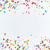 Abstract background with falling confetti. Vector Royalty Free Stock Photography