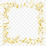 Abstract background with falling golden confetti. Gold shine of confetti. Abstract background with falling golden tiny confetti. Luxury festive background for royalty free illustration