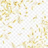 Abstract background with falling golden confetti. Gold shine of confetti. Abstract background with falling golden tiny confetti. Luxury festive background for Royalty Free Stock Photos