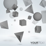 Abstract background. Abstract falling objects background vector eps 10 vector illustration