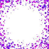 Abstract background with falling purple confetti. Empty space for text. Background for holiday cards, greetings. Purple paper confetti on white background Royalty Free Stock Photos
