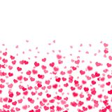 Abstract background with falling red hearts. Vector. Abstract background with falling red hearts. Vector Stock Image