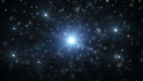 Abstract background with falling snow and light rays, snowflakes 3D Rendering Stock Image