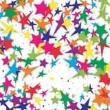 Abstract background with falling star-shaped confetti. Vector Stock Image
