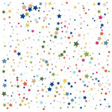 Abstract background with falling star-shaped confetti. Vector Stock Images