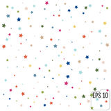 Abstract background with falling star-shaped confetti. Vector Royalty Free Stock Photos