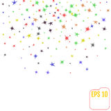 Abstract background with falling star-shaped confetti. Vector Royalty Free Stock Images