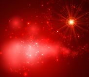 Abstract Background with Falling Star and Twinkling Trail. Abstract Background with Falling Star and Twinkling Star Trail. Vector Illustration Royalty Free Stock Images