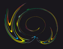 Abstract background of the fantastic curves Stock Images