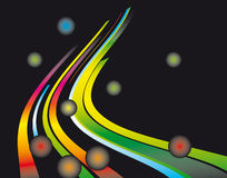 Abstract background of the fantastic curves. Vector illustration royalty free illustration
