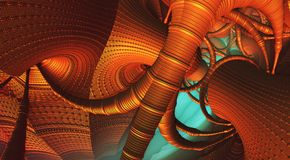 Abstract background fantastic 3D. Abstract background, fantastic 3D structures, fictional background Royalty Free Illustration