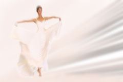 Free Abstract Background - Fashion Model On Catwalk - Radial Zoom Blu Stock Image - 54263511