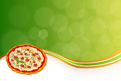 Abstract background fast food pizza orange green Royalty Free Stock Photo