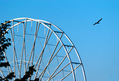 Abstract Background, ferris metal-wheel against sky. Stock Photography