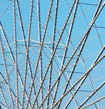 Abstract Background,  ferris metal-wheel against sky. Royalty Free Stock Photos