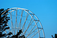 Abstract Background, ferris metal-wheel against sky. Royalty Free Stock Images