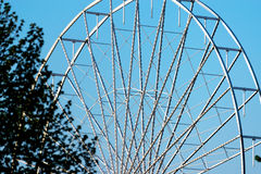Abstract Background, ferris metal-wheel against sky. Stock Images