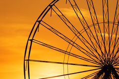 Abstract Background, ferris metal-wheel against sky with sunset. Stock Photography