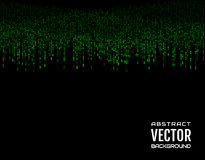 Abstract background festive comic vertical dash green lines on black background. Design element. Vector Royalty Free Stock Photography