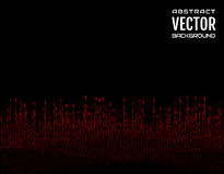 Abstract background festive comic vertical dash red lines on black background. Design element. Vector. Illustration Royalty Free Stock Image