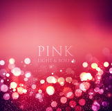 Abstract background. Festive elegant abstract. Abstract defocused christmas background. Festive elegant abstract background with pink bokeh  lights Stock Photo