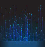 Abstract Background Fiber Optic Trace Blue Signal Stock Images