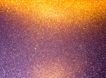 Abstract background filled with shiny purple glitter. Abstract background filled with shiny gold and purple glitter Royalty Free Stock Photography